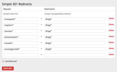 301 Redirects GarretCafe WordPress
